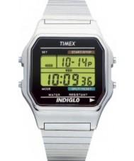Timex T78587 Mens clássico relógio cronógrafo digital de prata