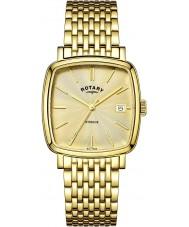 Rotary GB05308-03 Mens relógios Windsor ouro champagne relógio banhado