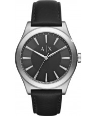 Armani Exchange AX2323 vestido de couro preto relógio pulseira masculina