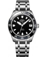 Rotary LB90168-04 Senhoras relógios legado de aço de prata pulseira de relógio