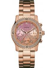 Guess W0774L3 Senhoras confetti subiu banhado a ouro pulseira de relógio