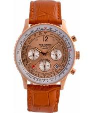 Krug-Baumen 400704DS Air diamante viajante couro laranja relógio pulseira