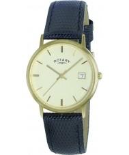 Rotary GS11476-03 Mens metais preciosos 9ct caso relógio de ouro