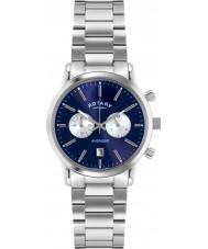 Rotary GB02730-05 Mens Relógios de esportes vingador prata azul relógio cronógrafo