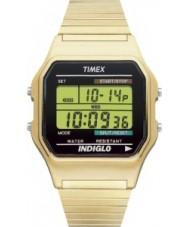Timex T78677 Mens ouro clássico relógio cronógrafo digital de