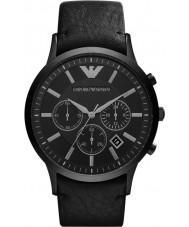 Emporio Armani AR2461 Mens relógio preto clássico cronógrafo