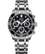 Rotary GB90170-04 Mens relógios legado relógio cronógrafo prata
