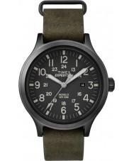 Timex TW4B06700 Mens olheiro relógio com pulseira de couro verde