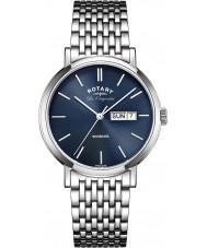 Rotary GB90153-05 Mens les originales Windsor relógio de aço azul