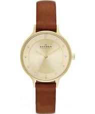 Skagen SKW2147 Ladies anita relógio com pulseira de couro de sela