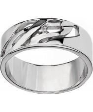 Hot Diamonds DR088-Q Ladies arabesque anel de prata - tamanho q