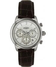 Rotary GS02876-06 relógios Mens monaco marfim marrom relógio desportivo cronógrafo