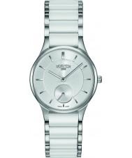 Roamer 677855-41-15-60 Ladies ceraline relógio pulseira de cerâmica branca