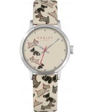 Radley RY2367 Ladies rua de frota relógio pulseira de couro creme