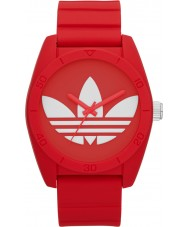 Adidas ADH6168 Santiago de silicone vermelho relógio de pulseira