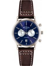 Rotary GS02730-05 Mens Relógios de esportes vingador marrom azul relógio cronógrafo