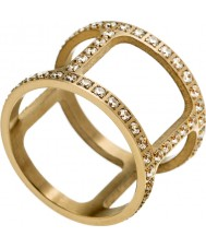 Edblad 3153441916-XS Ladies ouro amarelo helena anel banhado com CZ - tamanho l (xs)