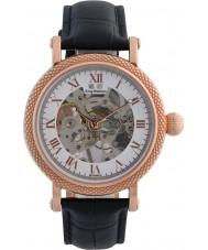 Krug-Baumen 60152DM prestígio Mens couro preto relógio pulseira