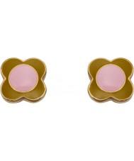 Orla Kiely E5434 Brincos femininos de margarida