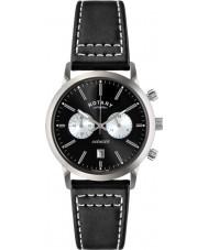 Rotary GS02730-04 Mens Relógios de esportes vingador relógio cronógrafo preto