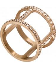 Edblad 3153441915-XS Senhoras helena CZ ouro rosa anel banhado - tamanho l (xs)
