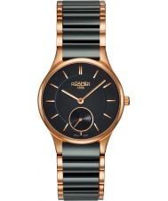 Roamer 677855-49-55-60 Ladies ceraline relógio pulseira de cerâmica negra