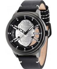 Police 14685JSB-61 Mens predador de couro preto relógio pulseira