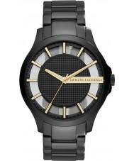 Armani Exchange AX2192 vestido de Mens preto de aço pulseira de relógio
