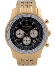 Krug-Baumen 600103DS Mens viajante ar relógio de diamantes