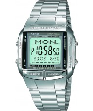 Casio DB-360N-1AEF coleção dos homens pulseira em aço prata relógio com Telememo