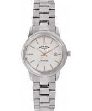 Rotary LB02735-06 Senhoras relógios de relógio de aço prata avenger