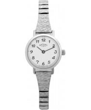 Rotary LBI0761 Senhoras relógios de aço expansível relógio pulseira