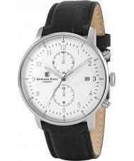 Edward East EDW1901G7 Mens couro preto cronógrafo relógio