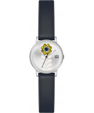 Orla Kiely OK2047 Ladies valentina couro preto relógio pulseira