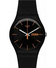 Swatch SUOB704 New Gent - relógio rebelde escuro