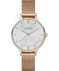 Skagen SKW2151 Senhoras anita subiu relógio de ouro de malha