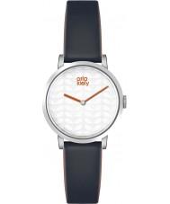 Orla Kiely OK2049 Ladies luna de couro preto pulseira de relógio