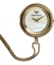 Emporio Armani AR7387 Ladies banhado a ouro relógio pendant