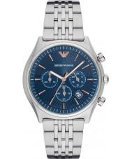 Emporio Armani AR1974 Mens vestido de prata pulseira de aço relógio