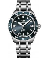 Rotary LB90168-05 Senhoras relógios legado de aço de prata pulseira de relógio