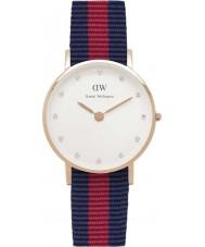 Daniel Wellington DW00100064 Ladies elegante 26 milímetros oxford rosa relógio de ouro