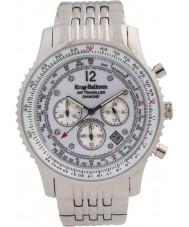 Krug-Baumen 600301DS Mens viajante ar relógio de diamantes