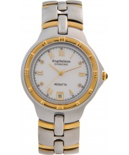 Krug-Baumen 2614DM Regatta 4 diamante mostrador branco pulseira de dois tons