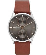 Skagen SKW6086 Mens Holst pulseira de relógio de couro marrom