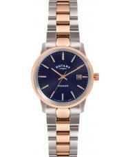 Rotary LB02737-05 Senhoras relógios vingador dois tons rosa relógio