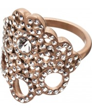Edblad 82886 Ladies liz fosco anel de ouro rosa - tamanho q (l)