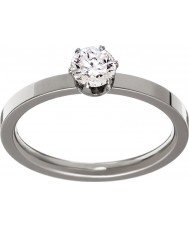Edblad 31630132-S Ladies coroar anel de aço de prata - tamanho n (s)