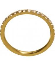 Edblad 216130153-M Ladies brilhar micro anel matt ouro - tamanho P (m)