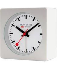 Mondaine A996-ALIG-10SBB relógio cubo de alarme Branco