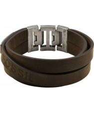 Fossil JF84955040 Mens grande multi envoltório pulseira de couro marrom